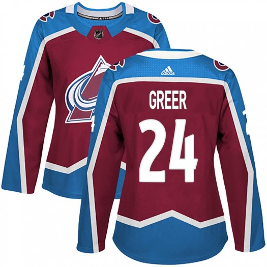 A.J. Greer Colorado Avalanche Women's Adidas Authentic Burgundy Home Jersey