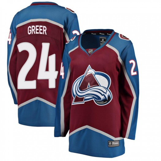 A.J. Greer Colorado Avalanche Women's Fanatics Branded Breakaway Maroon Home Jersey