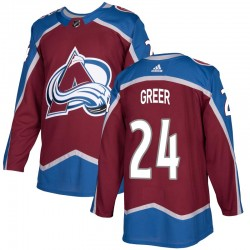 A.J. Greer Colorado Avalanche Youth Adidas Authentic Burgundy Home Jersey