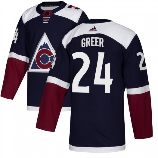 A.J. Greer Colorado Avalanche Youth Adidas Authentic Navy Alternate Jersey