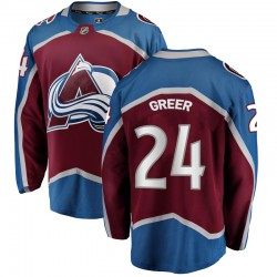 A.J. Greer Colorado Avalanche Youth Fanatics Branded Breakaway Maroon Home Jersey