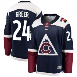 A.J. Greer Colorado Avalanche Youth Fanatics Branded Navy Breakaway Alternate Jersey