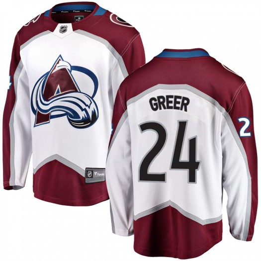 A.J. Greer Colorado Avalanche Youth Fanatics Branded White Breakaway Away Jersey