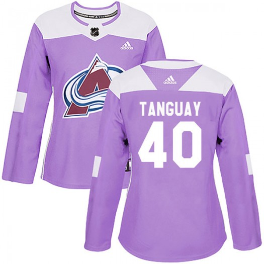 Alex Tanguay Colorado Avalanche Women's Adidas Authentic Purple Fights Cancer Practice Jersey