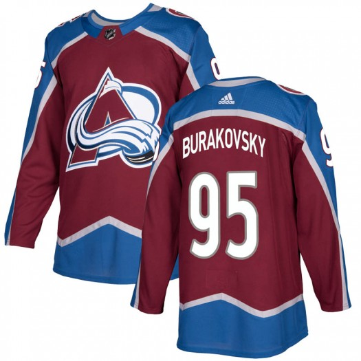 Andre Burakovsky Colorado Avalanche Youth Adidas Authentic Burgundy Home Jersey