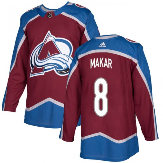 Cale Makar Colorado Avalanche Youth Adidas Authentic Burgundy Home Jersey