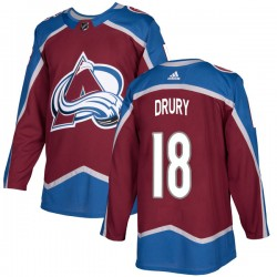 Chris Drury Colorado Avalanche Men's Adidas Authentic Burgundy Home Jersey