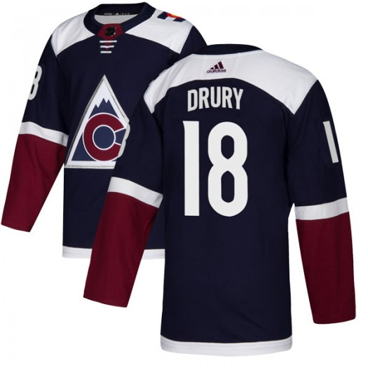Chris Drury Colorado Avalanche Men's Adidas Authentic Navy Alternate Jersey