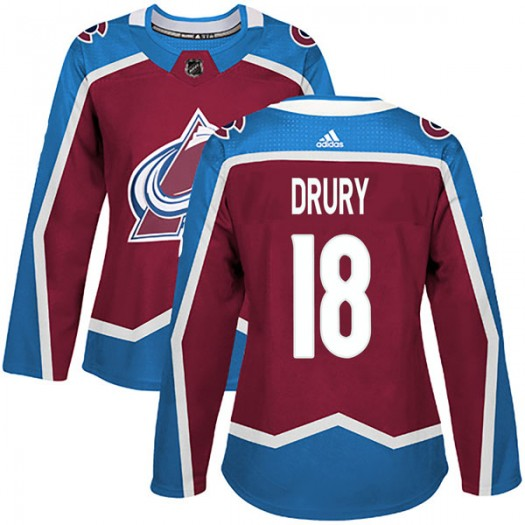 Chris Drury Colorado Avalanche Women's Adidas Authentic Burgundy Home Jersey