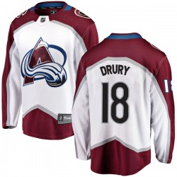 Chris Drury Colorado Avalanche Youth Fanatics Branded White Breakaway Away Jersey