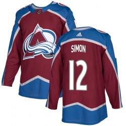 Chris Simon Colorado Avalanche Youth Adidas Authentic Burgundy Home Jersey