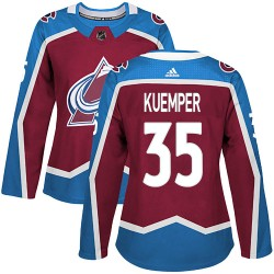 Darcy Kuemper Colorado Avalanche Women's Adidas Authentic Burgundy Home Jersey