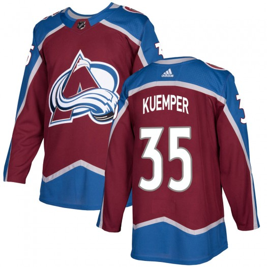 Darcy Kuemper Colorado Avalanche Youth Adidas Authentic Burgundy Home Jersey