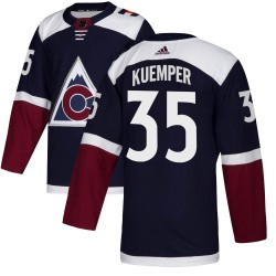 Darcy Kuemper Colorado Avalanche Youth Adidas Authentic Navy Alternate Jersey