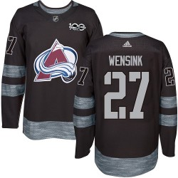 John Wensink Colorado Avalanche Men's Adidas Authentic Black 1917-2017 100th Anniversary Jersey