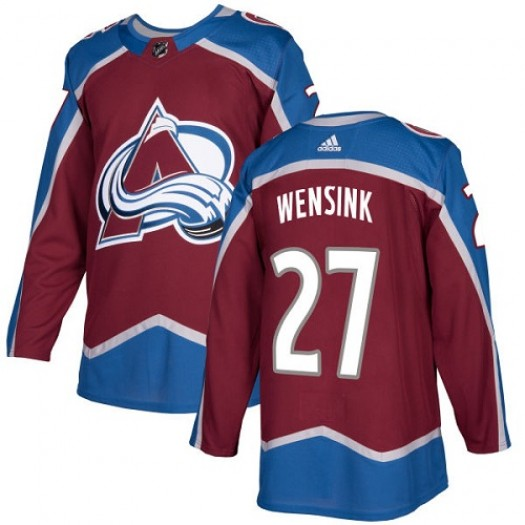 John Wensink Colorado Avalanche Youth Adidas Authentic Red Burgundy Home Jersey