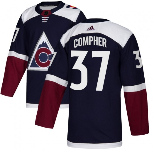 J.t. Compher Colorado Avalanche Men's Adidas Authentic Navy Alternate Jersey