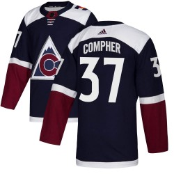 J.t. Compher Colorado Avalanche Youth Adidas Authentic Navy Alternate Jersey