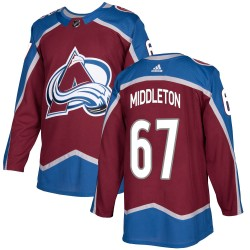 Keaton Middleton Colorado Avalanche Youth Adidas Authentic Burgundy Home Jersey