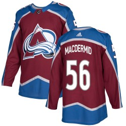 Kurtis MacDermid Colorado Avalanche Youth Adidas Authentic Burgundy Home Jersey