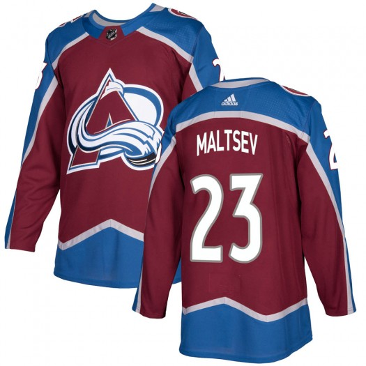 Mikhail Maltsev Colorado Avalanche Youth Adidas Authentic Burgundy Home Jersey