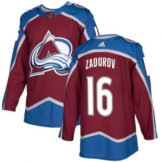 Nikita Zadorov Colorado Avalanche Youth Adidas Authentic Red Burgundy Home Jersey