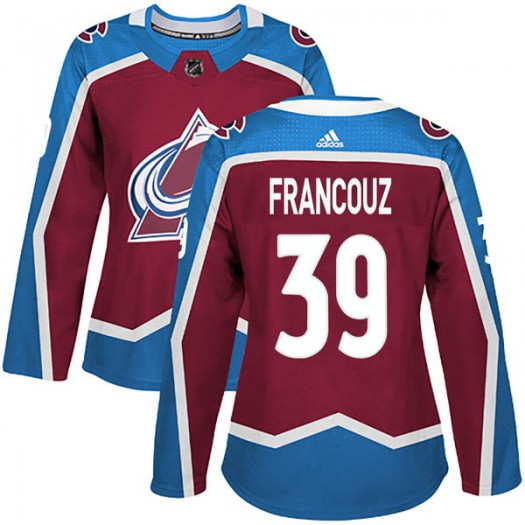 Pavel Francouz Colorado Avalanche Women's Adidas Authentic Burgundy Home Jersey