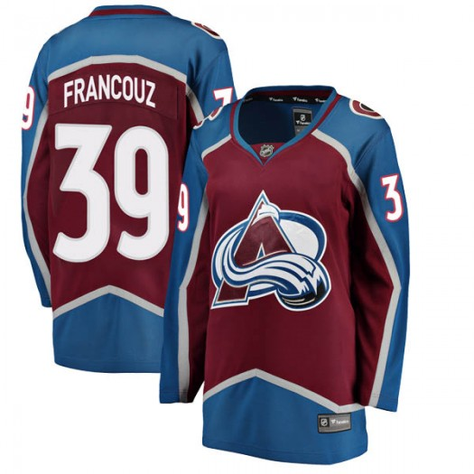 Pavel Francouz Colorado Avalanche Women's Fanatics Branded Breakaway Maroon Home Jersey