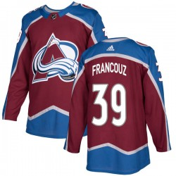 Pavel Francouz Colorado Avalanche Youth Adidas Authentic Burgundy Home Jersey