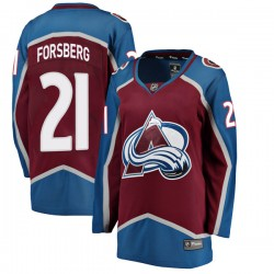 Peter Forsberg Colorado Avalanche Women's Fanatics Branded Breakaway Maroon Home Jersey