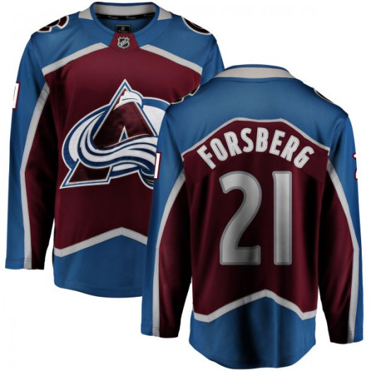 Peter Forsberg Colorado Avalanche Youth Fanatics Branded Maroon Home Breakaway Jersey