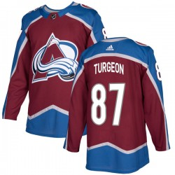 Pierre Turgeon Colorado Avalanche Men's Adidas Authentic Burgundy Home Jersey