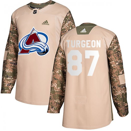 Pierre Turgeon Colorado Avalanche Men's Adidas Authentic Camo Veterans Day Practice Jersey