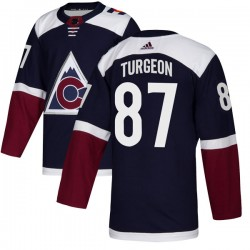 Pierre Turgeon Colorado Avalanche Men's Adidas Authentic Navy Alternate Jersey