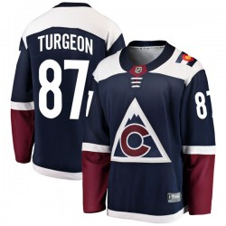 Pierre Turgeon Colorado Avalanche Men's Fanatics Branded Navy Breakaway Alternate Jersey