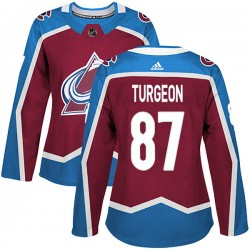 Pierre Turgeon Colorado Avalanche Women's Adidas Authentic Burgundy Home Jersey