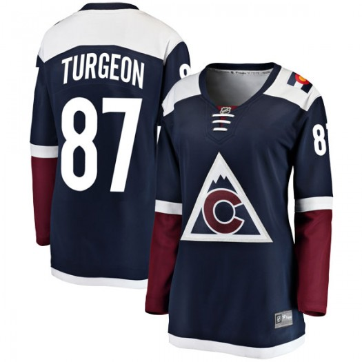 Pierre Turgeon Colorado Avalanche Women's Fanatics Branded Navy Breakaway Alternate Jersey