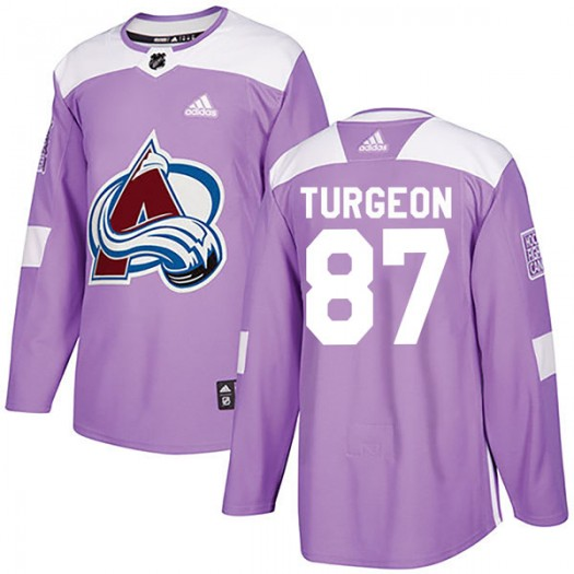 Pierre Turgeon Colorado Avalanche Youth Adidas Authentic Purple Fights Cancer Practice Jersey