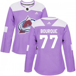 Raymond Bourque Colorado Avalanche Women's Adidas Authentic Purple Fights Cancer Practice Jersey