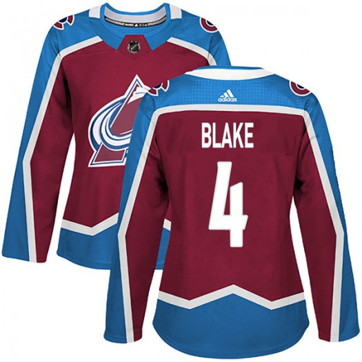 Rob Blake Colorado Avalanche Women's Adidas Authentic Burgundy Home Jersey