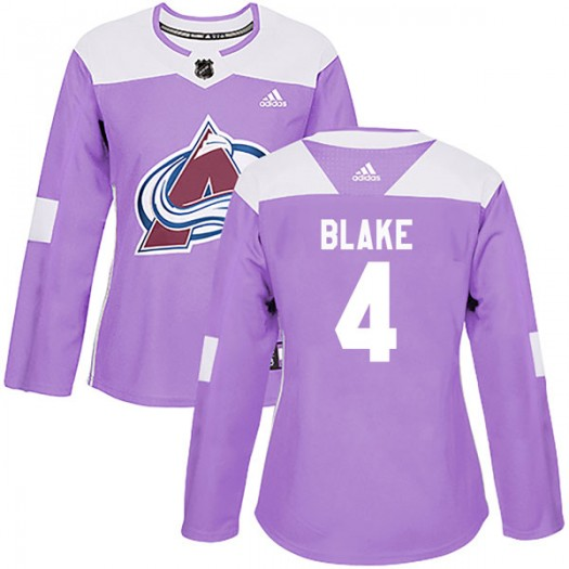 Rob Blake Colorado Avalanche Women's Adidas Authentic Purple Fights Cancer Practice Jersey