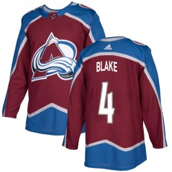 Rob Blake Colorado Avalanche Youth Adidas Authentic Burgundy Home Jersey