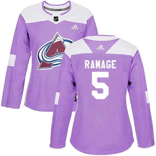 Rob Ramage Colorado Avalanche Women's Adidas Authentic Purple Fights Cancer Practice Jersey