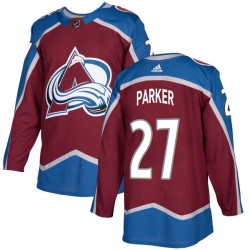 Scott Parker Colorado Avalanche Youth Adidas Authentic Burgundy Home Jersey