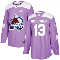 Valeri Nichushkin Colorado Avalanche Youth Adidas Authentic Purple Fights Cancer Practice Jersey