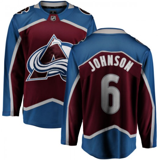 Erik Johnson Colorado Avalanche Youth Fanatics Branded Maroon Home Breakaway Jersey