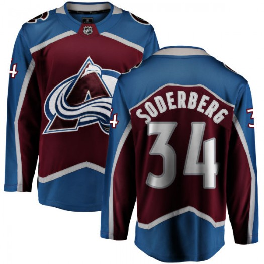 Carl Soderberg Colorado Avalanche Men's Fanatics Branded Maroon Home Breakaway Jersey