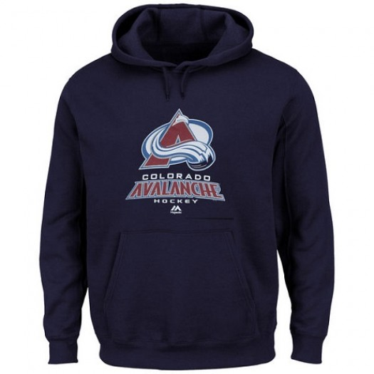 Colorado Avalanche Men's Majestic Navy Blue Big & Tall Critical Victory Pullover Hoodie
