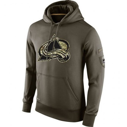 Colorado Avalanche Men's Nike Olive Salute To Service KO Performance Hoodie