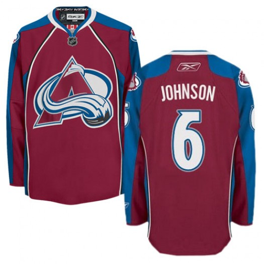 Erik Johnson Colorado Avalanche Men's Reebok Premier Red Burgundy Home Jersey